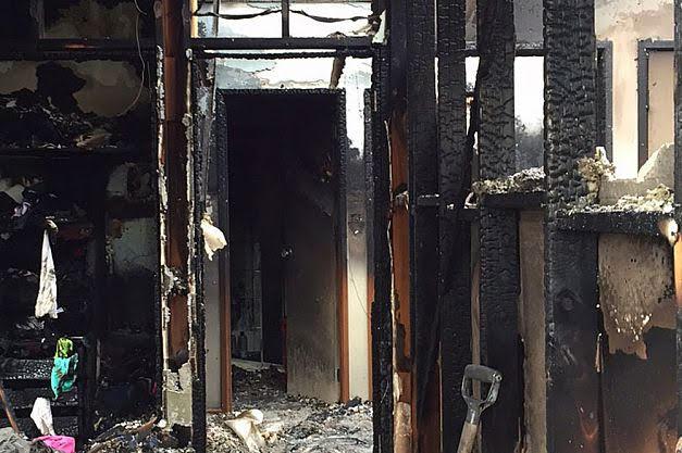لوح تزلج هوفربور يحرق منزل بالكامل (1)