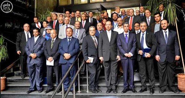لوفد الإعلامي المرافق لخادم الحرمين الشريفين يزور صحيفة أخبار اليوم المصرية