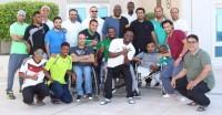 بالصور.. ماجد عبدالله يحتفل بأخضر الاحتياجات الخاصة