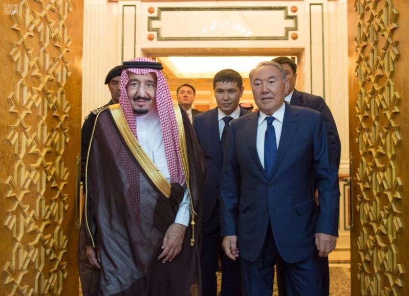 مباحثات الملك ورئيس كازاخستان10