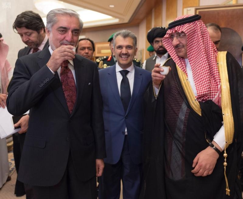 مباحثات ولي العهد ورئيس افغانستان التنفيذي3