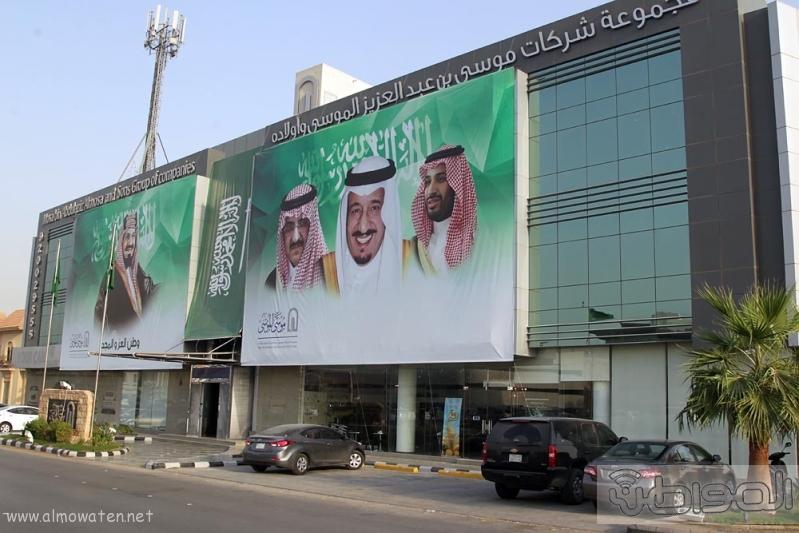 مباني الرياض يزدان بصور الملك 14