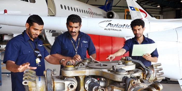 متدربون بالكلية الاسترالية للطيران بالرياض