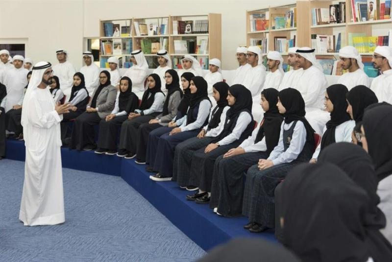 مجلس الوزراء الإماراتي يعقد جلسته الأسبوعية داخل مدرسة بحضور عدد من الطلاب 33