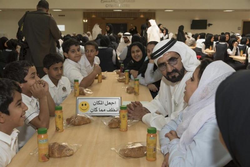 مجلس الوزراء الإماراتي يعقد جلسته الأسبوعية داخل مدرسة بحضور عدد من الطلاب 55