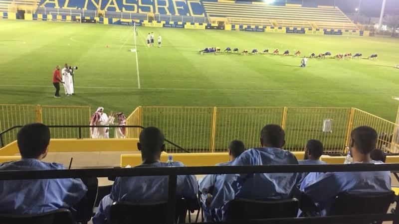 مجمع الأمل ينظم زيارة لمقر نادي النصر بمشاركة 20 مريضا نفسي 1