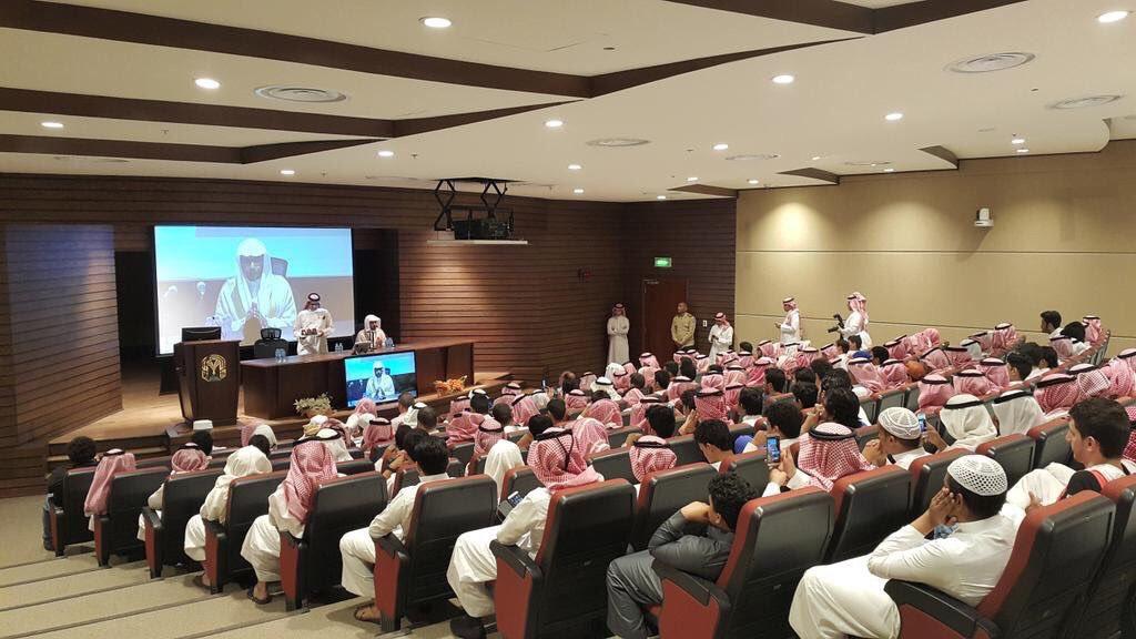 شاهد.. حضور كثيف لمحاضرة #المغامسي عن الفكر المتطرف بجامعة طيبة - المواطن