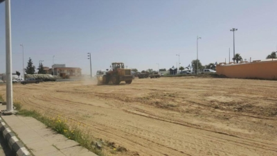 محافظة  النماص تم نقل برحه المعدات الثقيله وبيع الأسمنت والبناء الي موقعها الجديد1