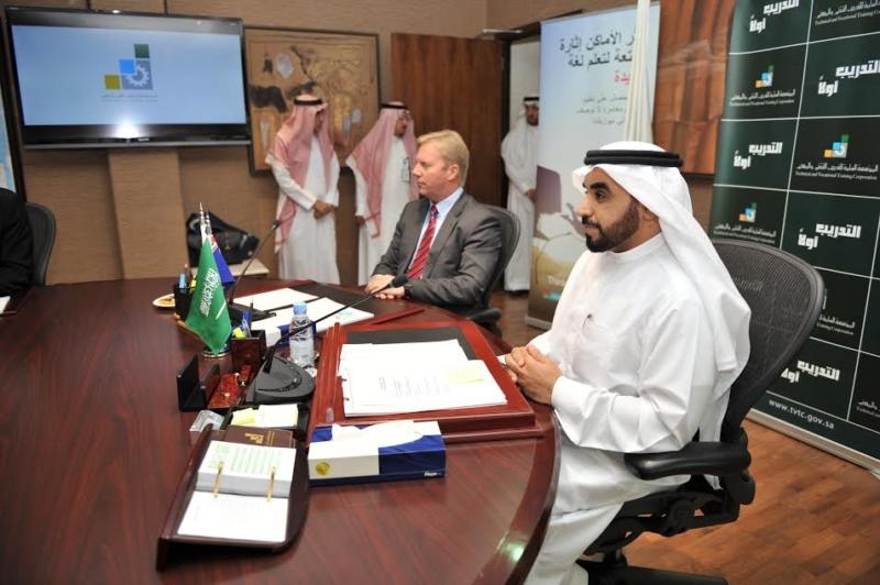 -المؤسسة-العامة-للتدريب-التقني-والمهني-الدكتور-أحمد-بن-فهد-الفهيد-مع-وزير-التجارة-النيوزلندي1