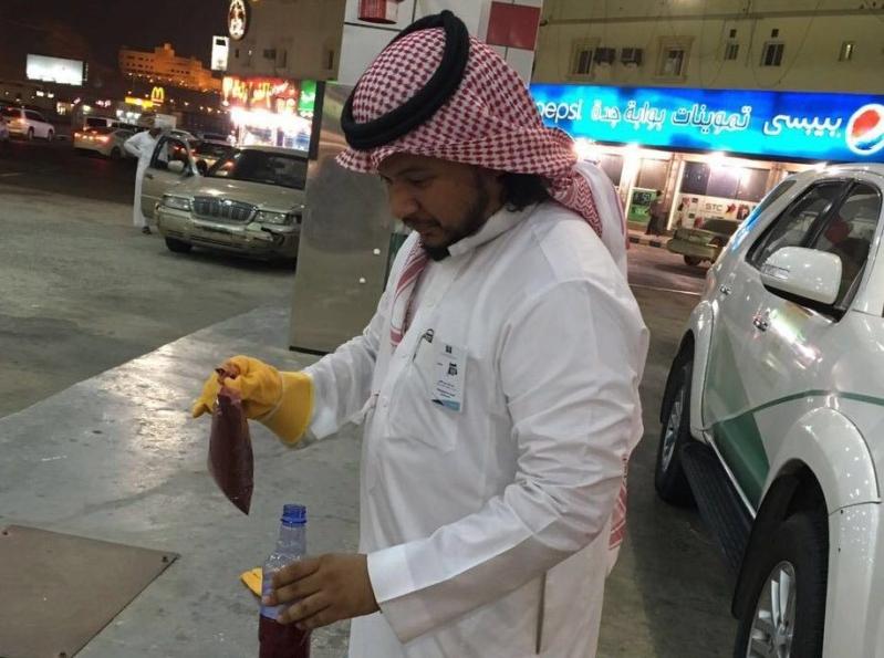 محطة غش وتلاعب بالوقود بجدة (1)
