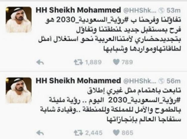محمد بن راشد يتكلم عن روية