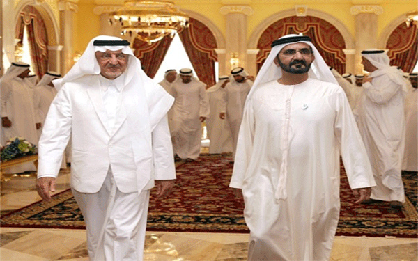 محمد بن راشد يستقبل الأمير خالد الفيصل