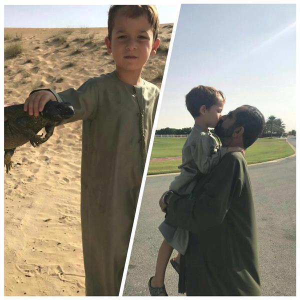 محمد بن راشد يعلم ولده الصيد (2)