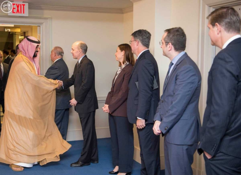 محمد بن سلمان في اجتماع مع معالي وزير الدفاع الأمريكي (781678681) 