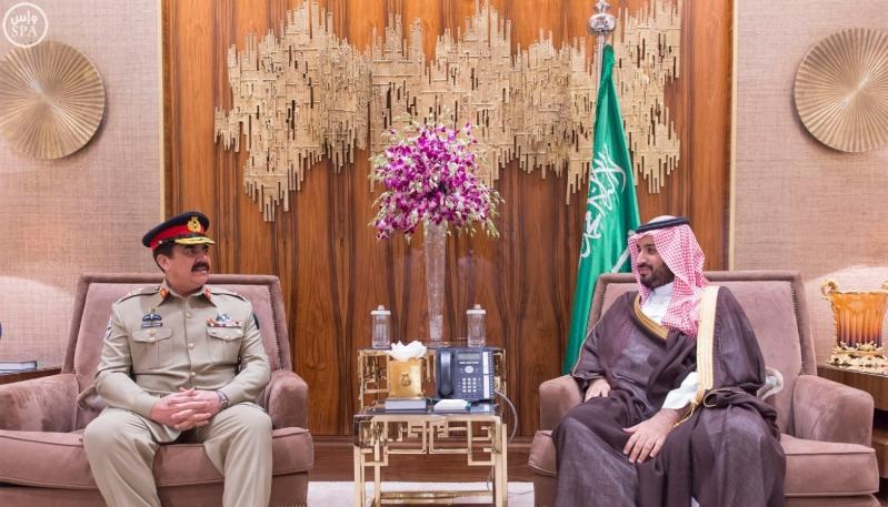 محمد-بن-سلمان-وقائد-جيش-باكستان