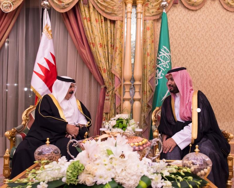 محمد بن سلمان وملك البحرين