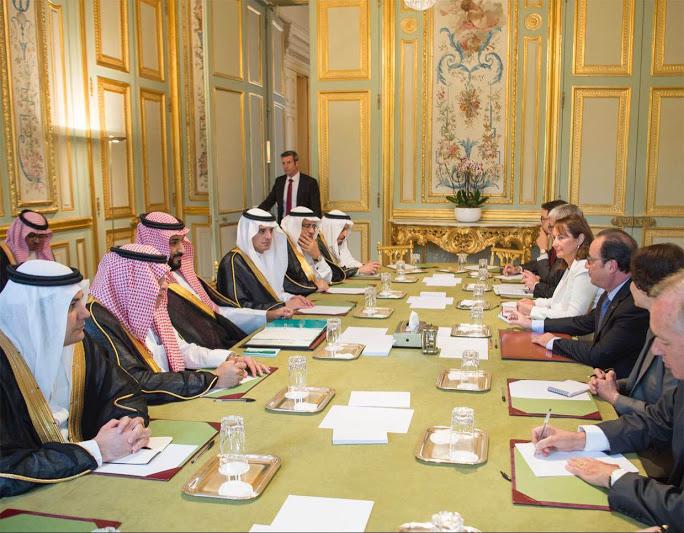 محمد بن سلمان وهولاند اجتماع