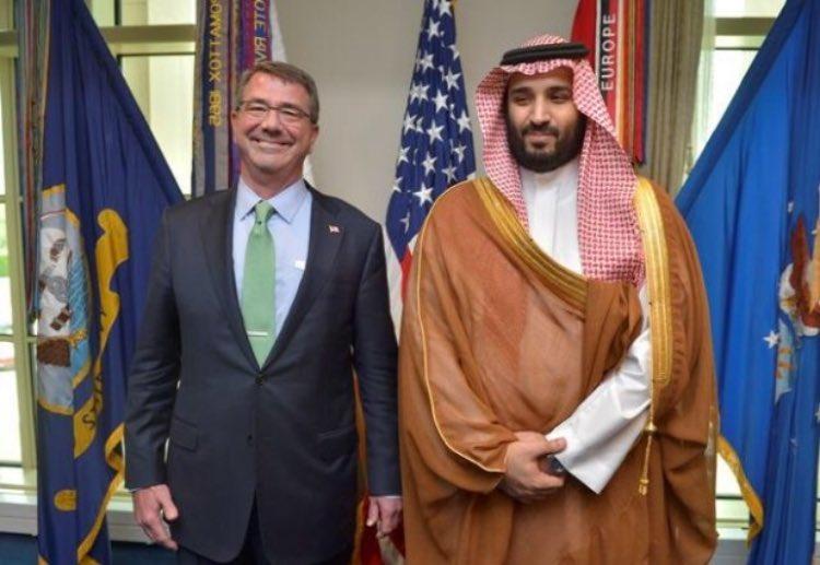 محمد بن سلمان ووزير الدفاع الامريكي