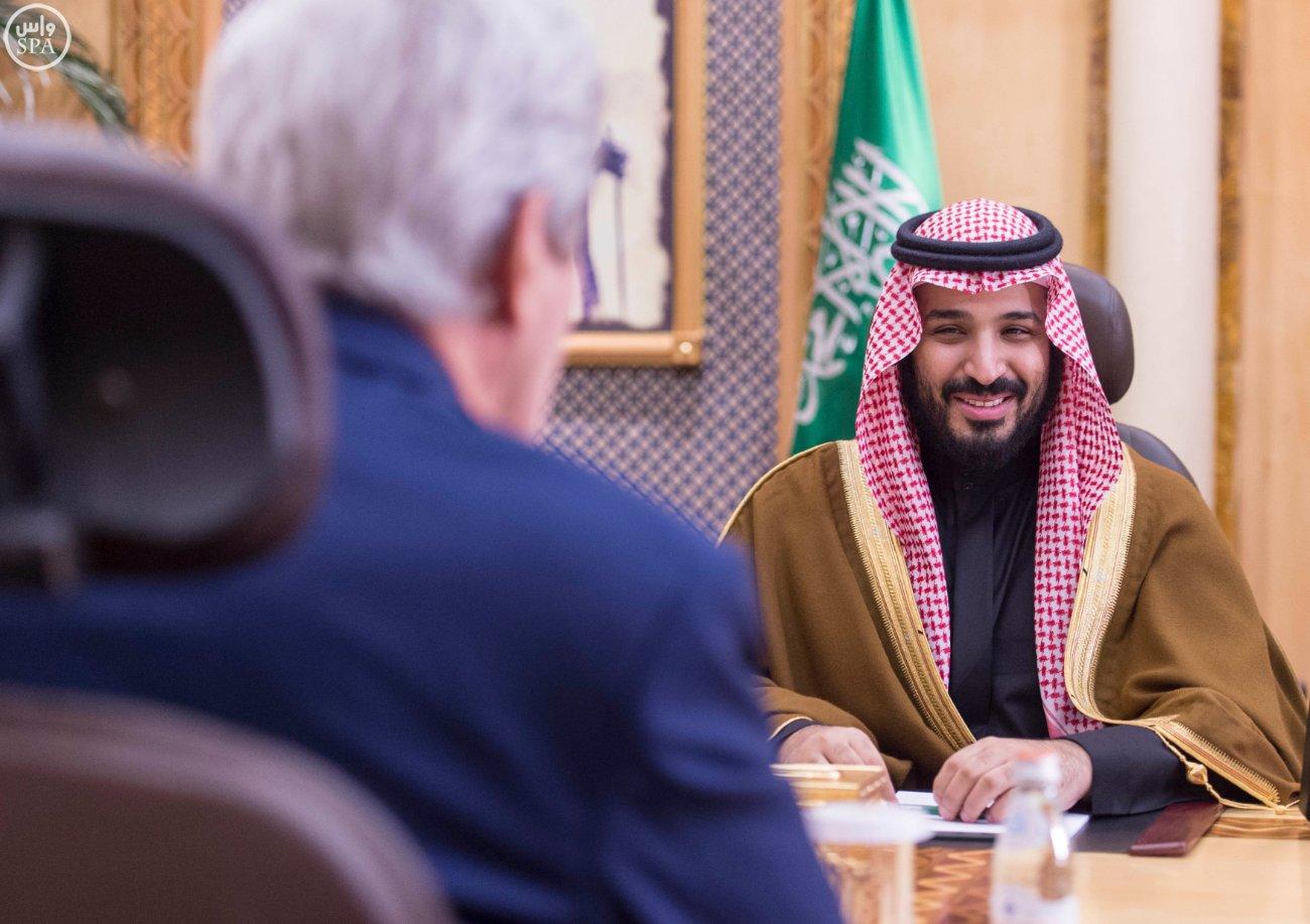 محمد بن سلمان يجتمع بوزير الخارجية الامريكي جون كيري