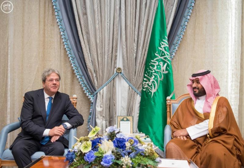 محمد بن سلمان يجتمع مع وزير الخارجية الايطالي