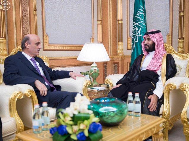 محمد-بن-سلمان-يستقبل--رئيس-حزب-لبنان (2)
