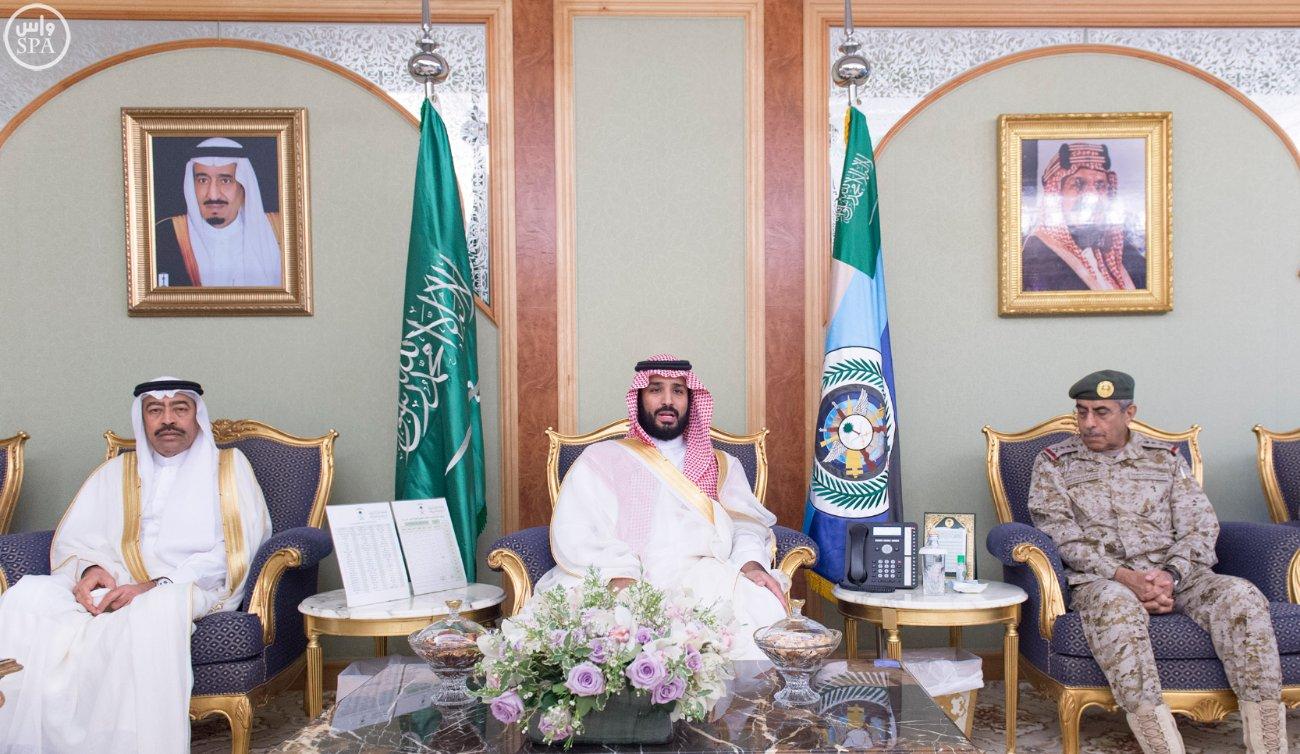 محمد بن سلمان يستقبل كبار القادة والمسئولين في وزارة الدفاع بمناسبة عيد الفطر (5)