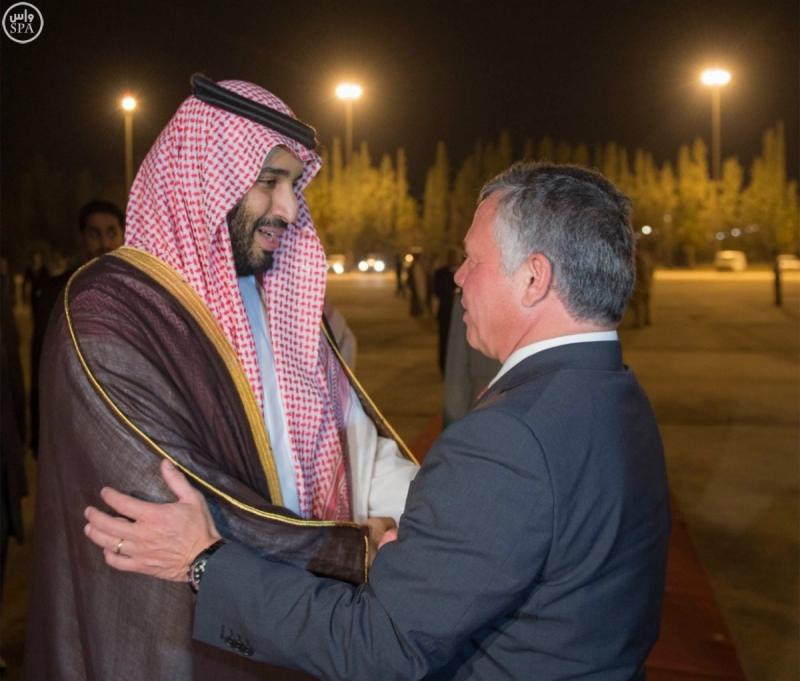 محمد بن سلمان يغادر الاردن (2)