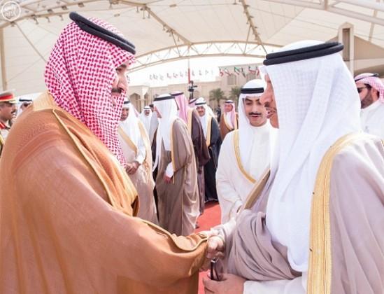 محمد-بن-سلمان-يغادر-الكويت