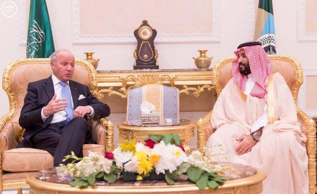 محمد بن سلمان يناقش مستجدات الأحداث في اليمن مع وزير الخارجية الفرنسي