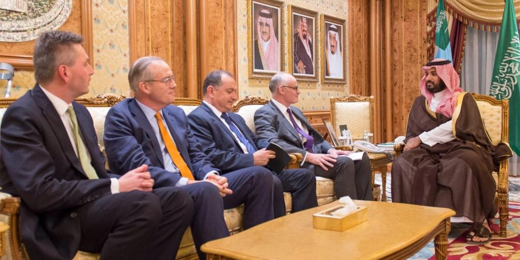 #محمد_بن_سلمان يلتقي رئيس لجنة الشؤون الخارجية بالبرلمان البريطاني