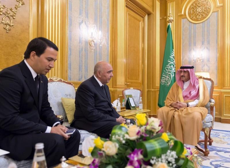 محمد بن نايف يتسلم رسالة للملك من رئيس تركمانستان 1