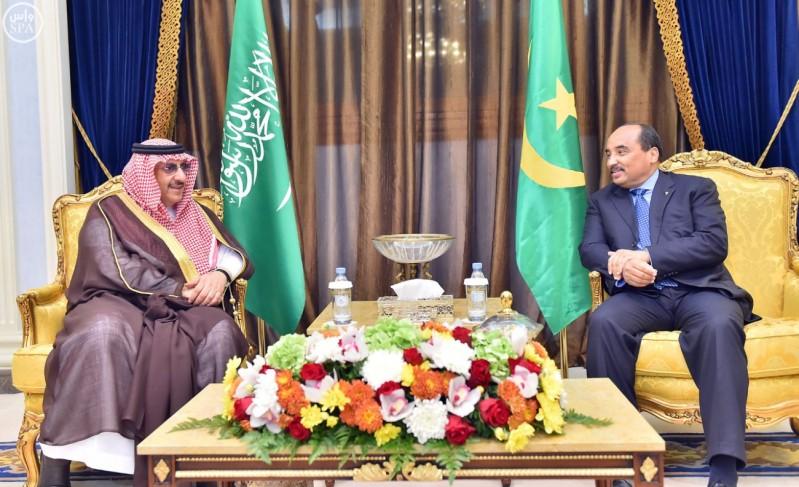 محمد-بن-نايف-يلتقي-الرئيس-الموريتاني