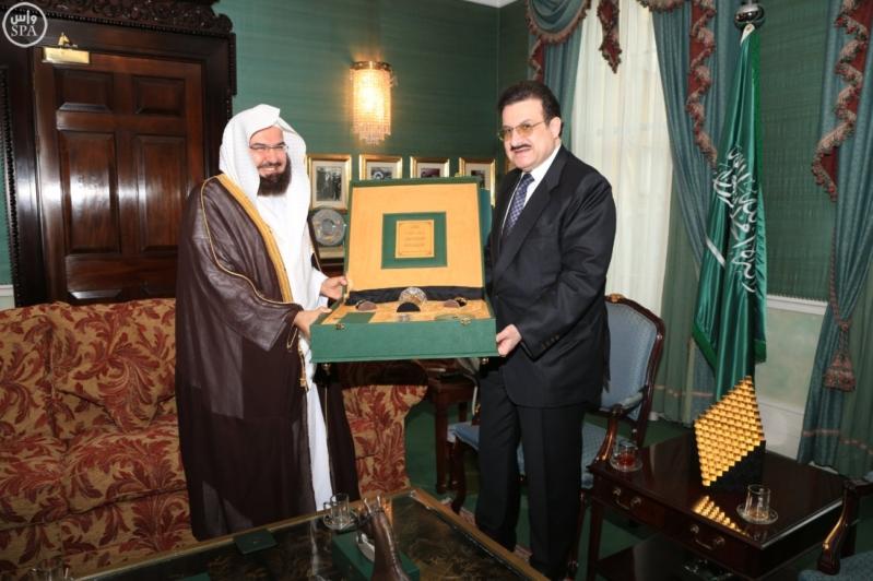 محمد بن نواف يستقبل السديس1