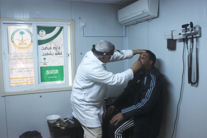 2839 حالة مَرضية سورية تعاملت معهم العيادات التخصصية السعودية في مخيم الزعتري