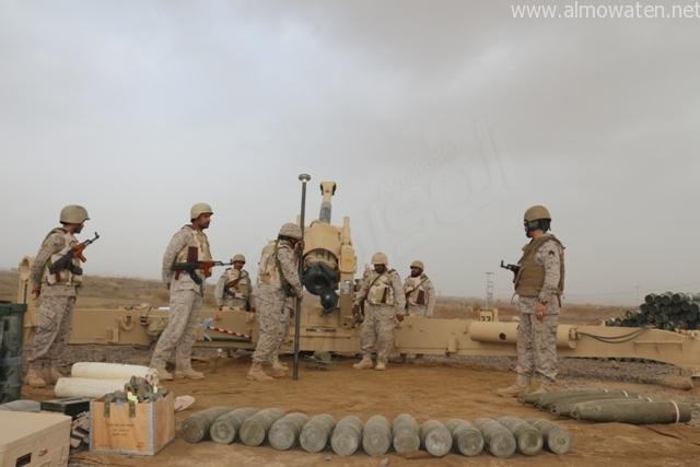 القوات السعودية والاباتشي تشتبك مع قوات تابعة للمخلوع صالح قرب الطوال - المواطن
