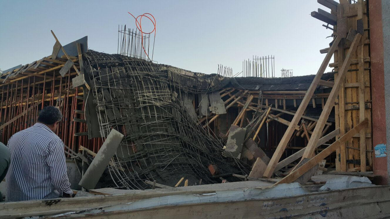 مدني المدينة يوضح تفاصيل انهيار مبنى تحت الإنشاء (1)