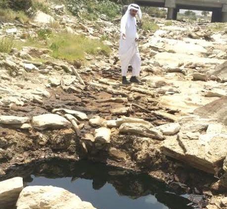 مدني تنومة يسيج موقع تسرب النفط والبلدية تواصل الشفط (1)
