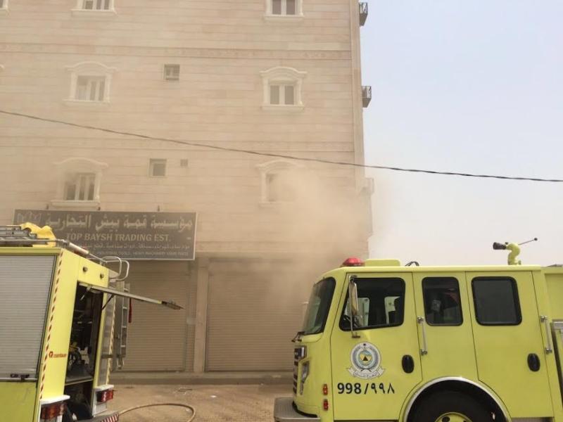 مدني جازان التحقيقات جارية لمعرفة أسباب حريق فندق بيش