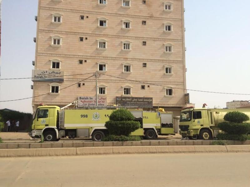 مدني جازان التحقيقات جارية لمعرفة أسباب حريق فندق بيش 1