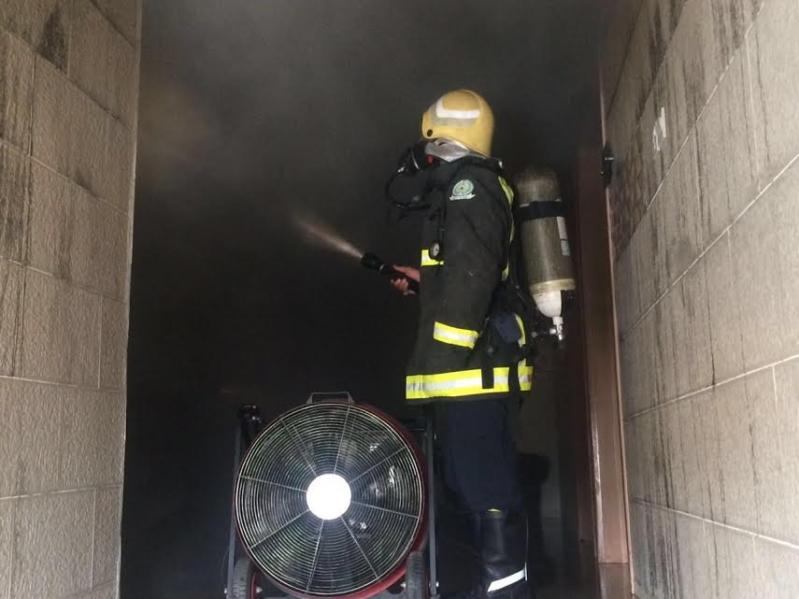 مدني جازان التحقيقات جارية لمعرفة أسباب حريق فندق بيش  3