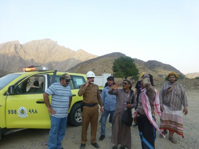 مدني #جازان يعثر على 4 تائهين بجبال القهر (1)
