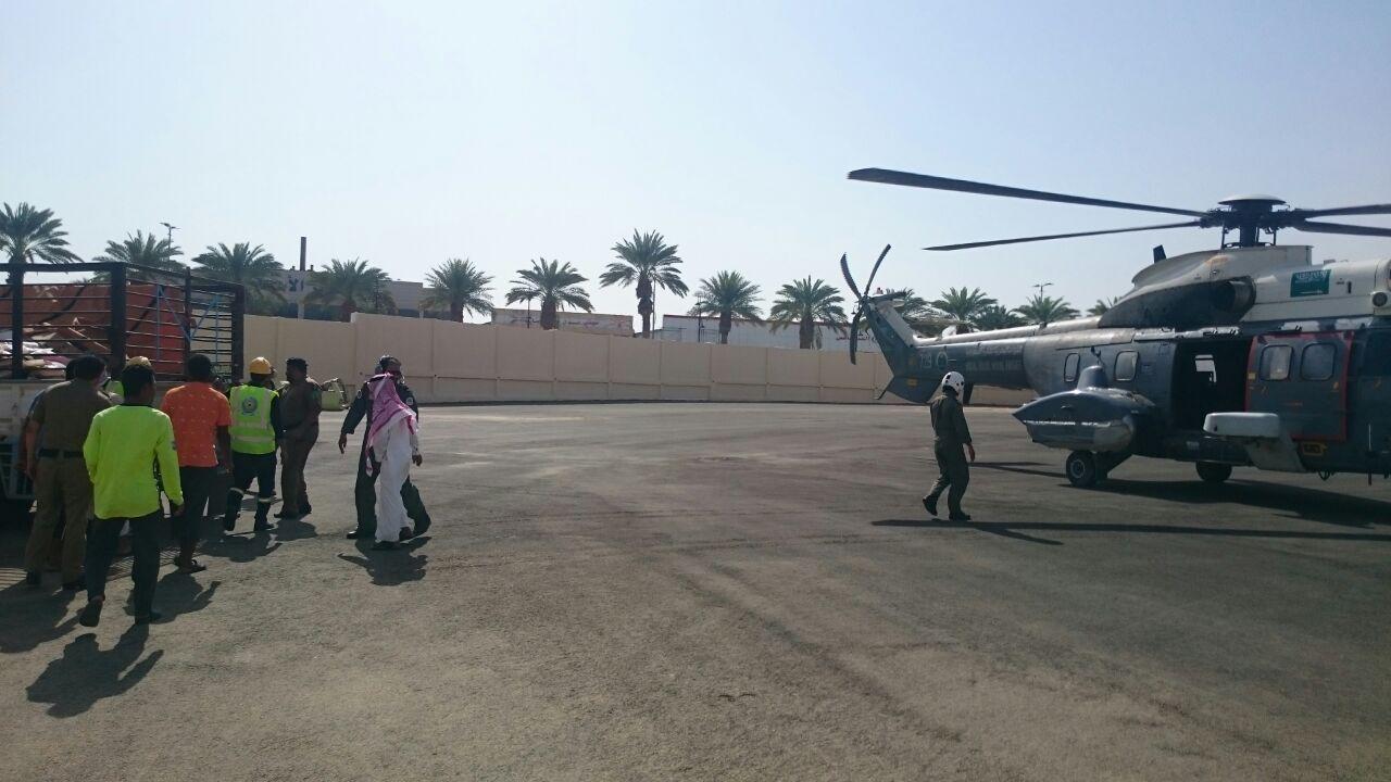 مدني جازان يمشط وادي قصي لبحث عن مفقود وتصريف مياه سد وادي بيش (2)