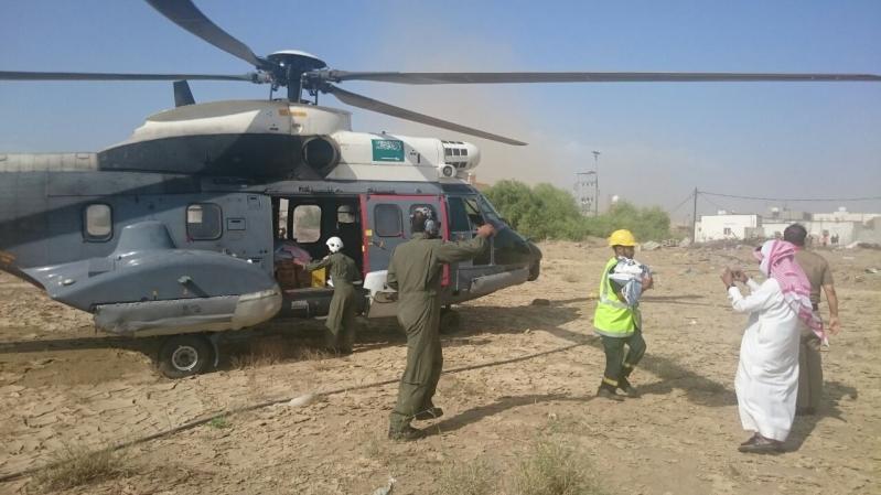 مدني جازان يمشط وادي قصي لبحث عن مفقود وتصريف مياه سد وادي بيش (3)