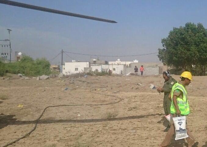 مدني جازان يمشط وادي قصي لبحث عن مفقود وتصريف مياه سد وادي بيش (8)