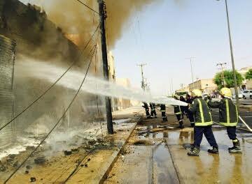 مدني حفر الباطن يخمد حريق 1