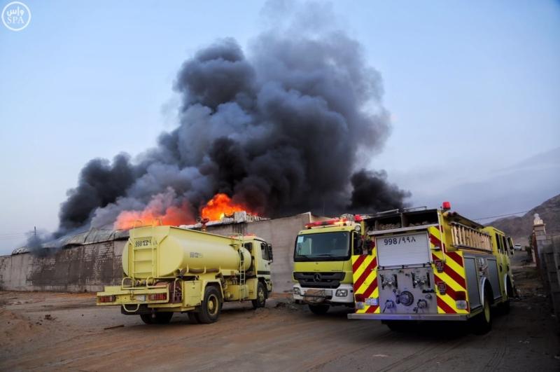 مدني مكة حريق1