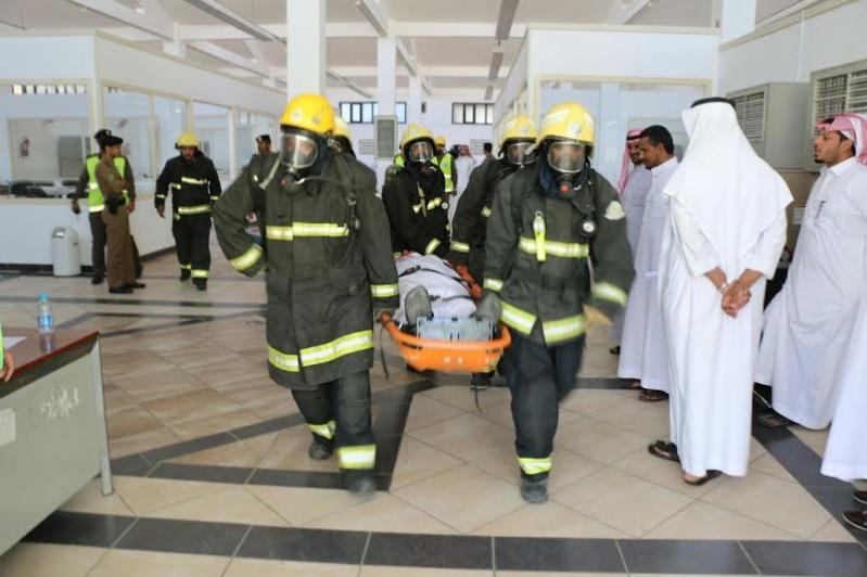 مدني مكة ينفذ فرضية في للإخلاء والإطفاء لمصنع كسوة الكعبة