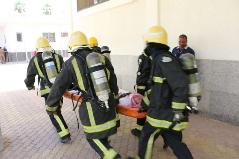 مدني مكة ينفذ فرضية في للإخلاء والإطفاء لمصنع كسوة الكعبة1