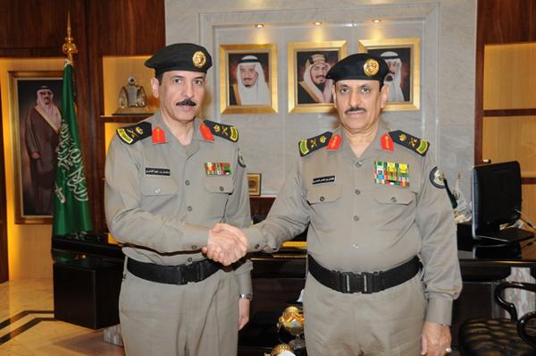 مدير الأمن العام عثمان بن ناصر المحرج العميد سليمان الشمري