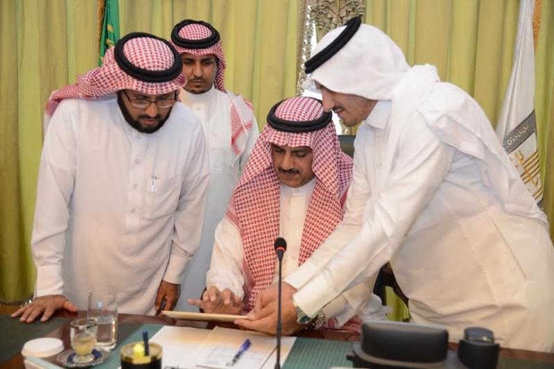 مدير جامعة الملك خالد يدشن بوابة نقل الطالبات الإلكترونية 1